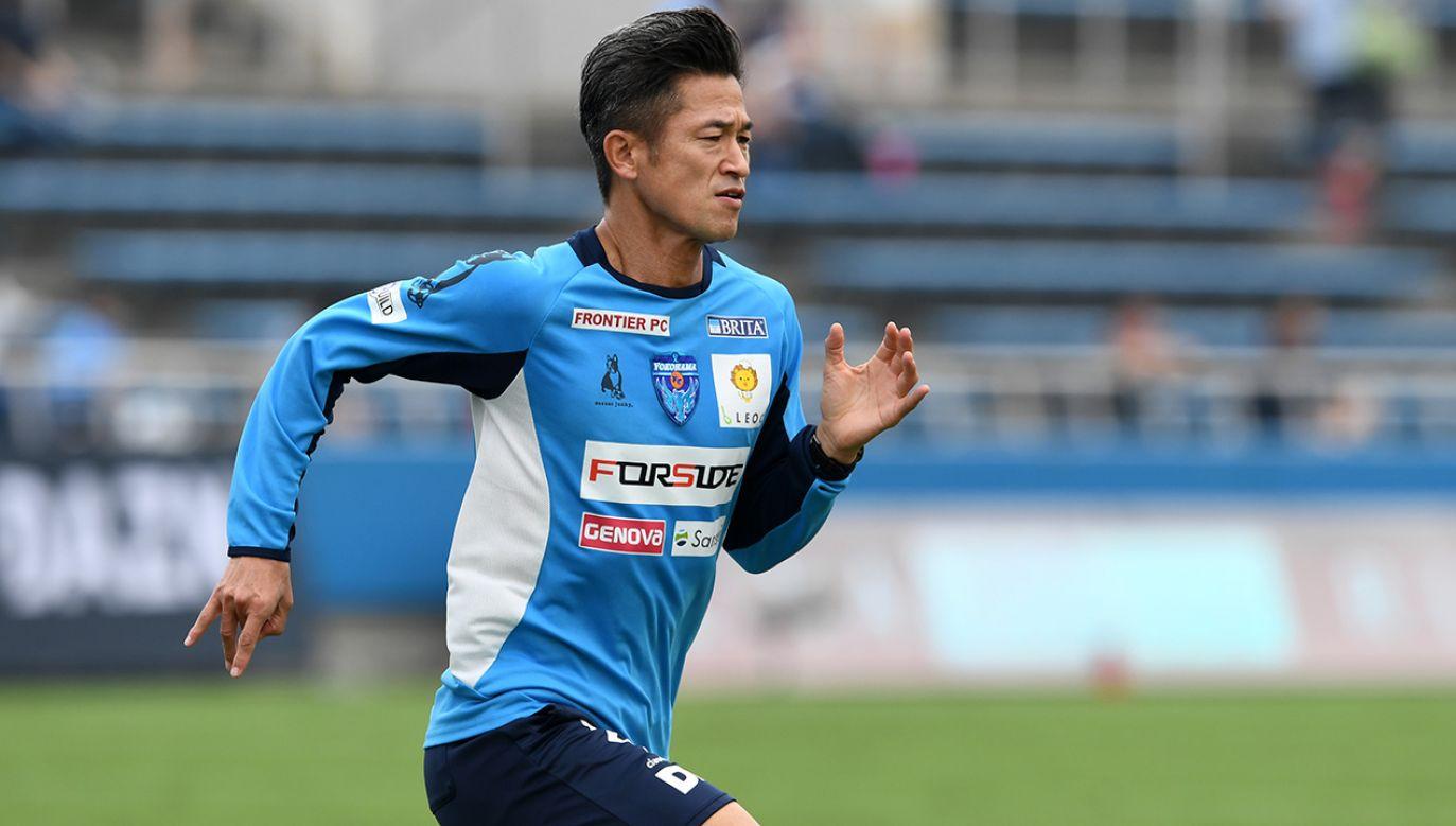 Kazuyoshi Miura został pierwszym piłkarzem tego kraju, który otrzymał nagrodę od tamtejszej konfederacji dla najlepszego azjatyckiego zawodnika roku (fot. Etsuo Hara/Getty Images)