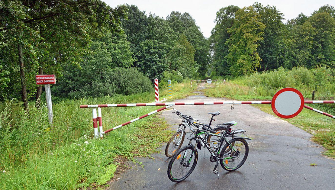 Holendrzy zostawili rowery po polskiej stronie, a sami udali się na Ukrainę (fot. Bieszczadzki Oddział Straży Granicznej)
