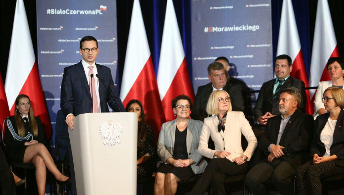 Premier Mateusz Morawiecki odwiedził Dolny Śląsk (fot. TT/KPRP)