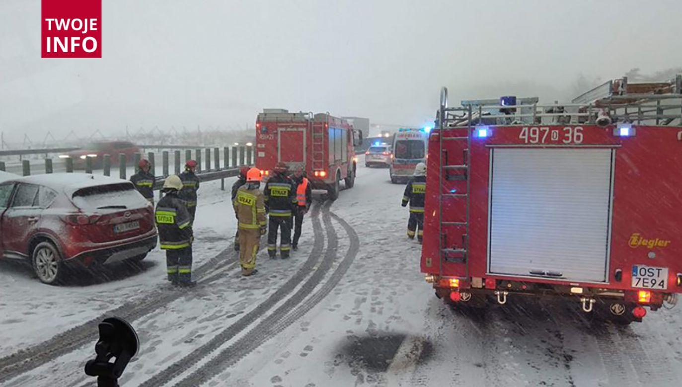 Na autostradzie A4 występują utrudnienia (fot. Twoje info)