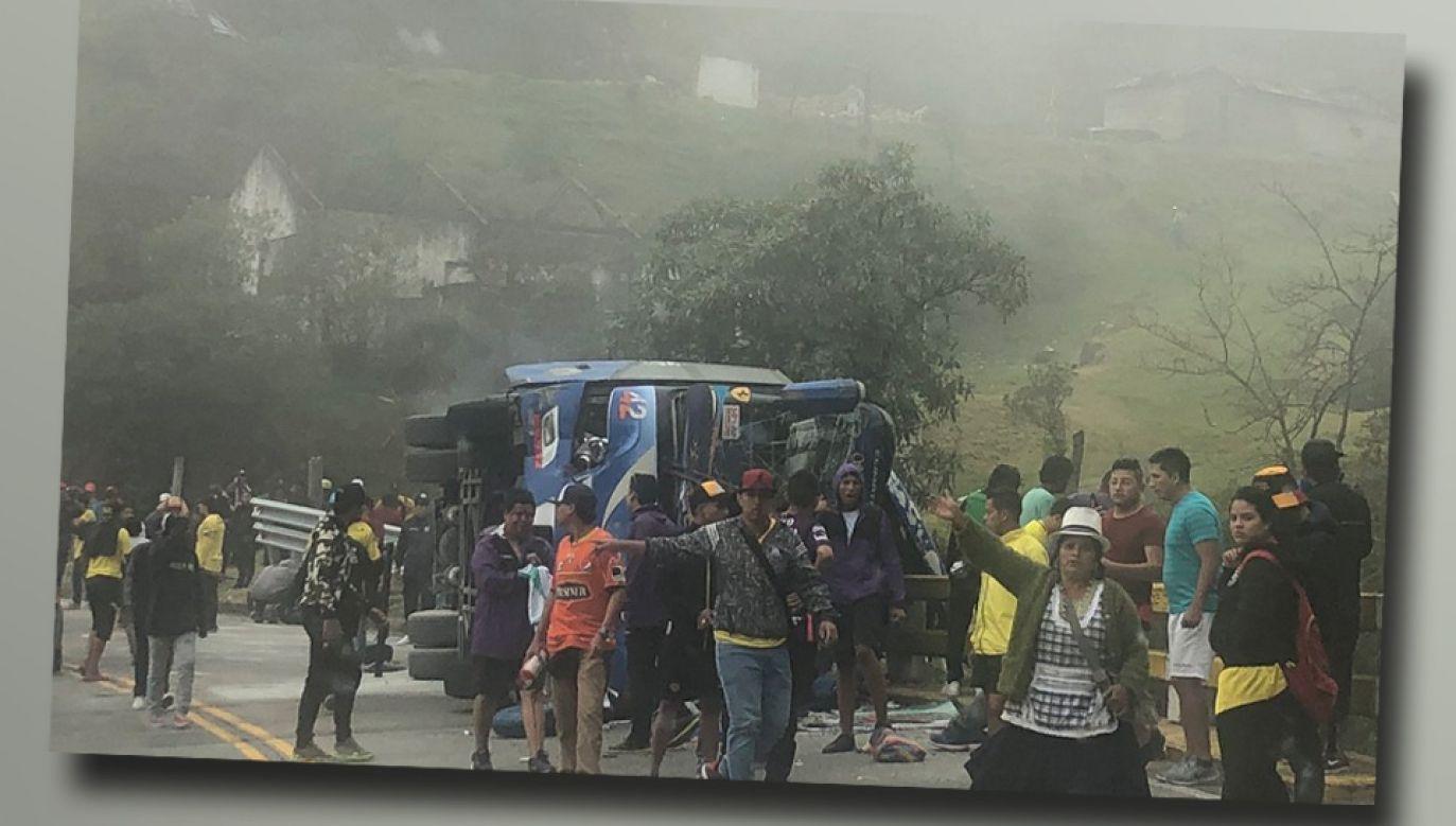 Kibice wracali z meczu rozegranego w mieście Cuenca (fot. TT)