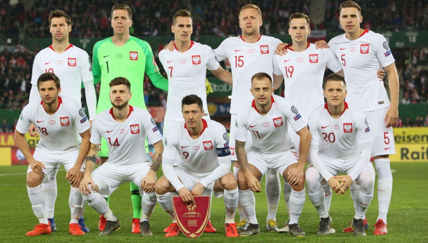 Piłkarska reprezentacja Polski przed inauguracyjnym meczem eliminacji mistrzostw Europy 2020 grupy G z Austrią (fot. PAP/Leszek Szymański)