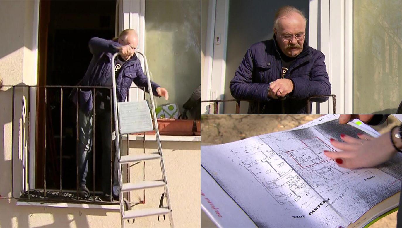 Dramat pana Jerzego trwa od kilku lat (fot. TVP1)