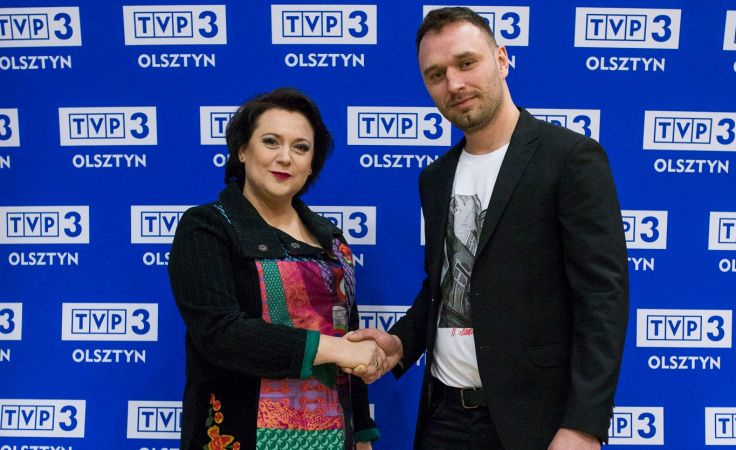 Joanna Warecha - reżyser i Marcin Sawko - operator (fot. Peter Dowejko)