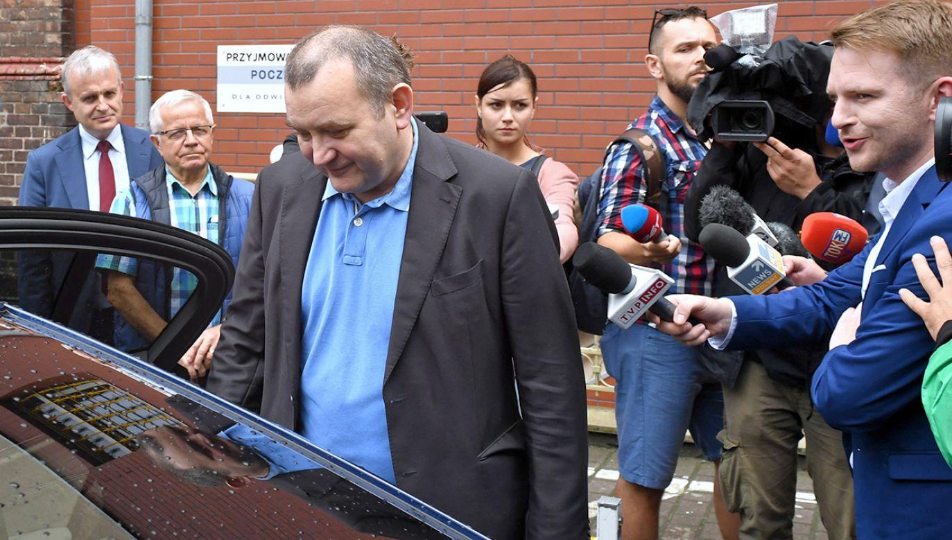 Stanisław Gawłowski usłyszał pięć zarzutów, w tym trzy o charakterze korupcyjnym (fot. PAP/Marcin Bielecki)