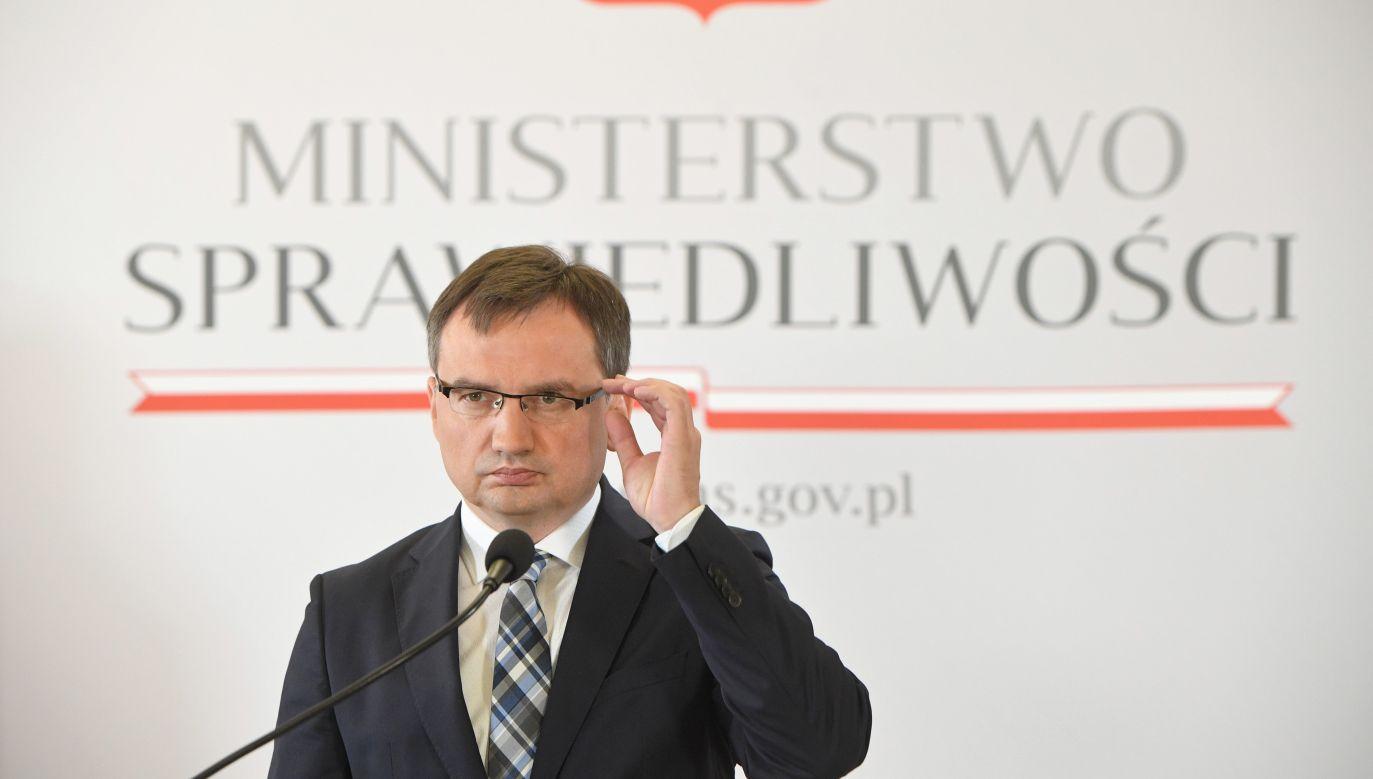 Justice Minister Zbigniew Ziobro. Photo: PAP/Radek Pietruszka