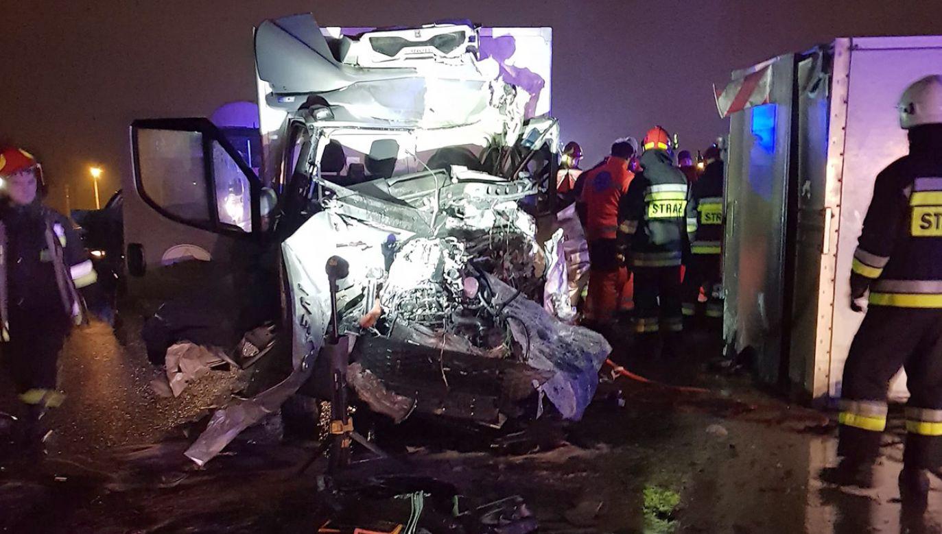 W wypadku uczestniczyło pięć pojazdów (fot. FB/Krakow112)