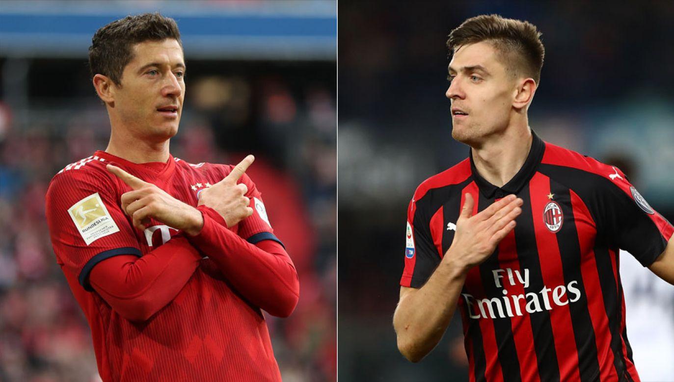 Lewandowski i Piątek strzelili po 22 bramki (fot. A. Beier/Getty Images for FC Bayern/Marco Luzzani/Getty Images)