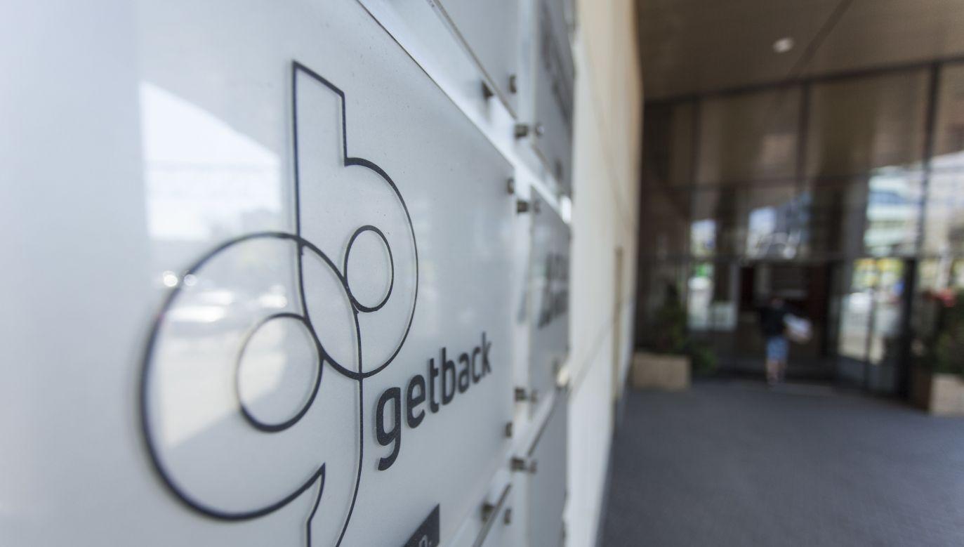 GetBack corporate logo at the company headquarters in Wrocław. Photo: PAP/Aleksander Koźmiński