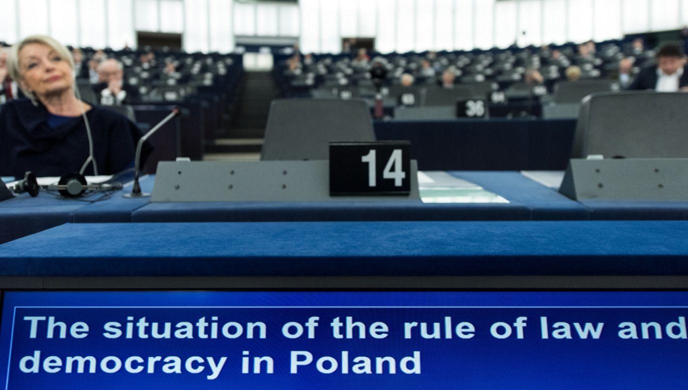 Przeciwko rezolucji głosowali europosłowie PiS (fot. PATRICK SEEGER/PAP/EPA)