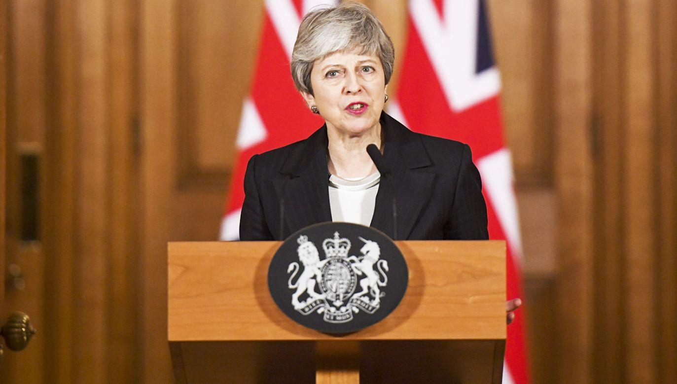 Theresa May liczy, że termin wyjścia z UE zostanie przesunięty (fot. PAP/EPA/CHRIS J. RATCLIFFE)