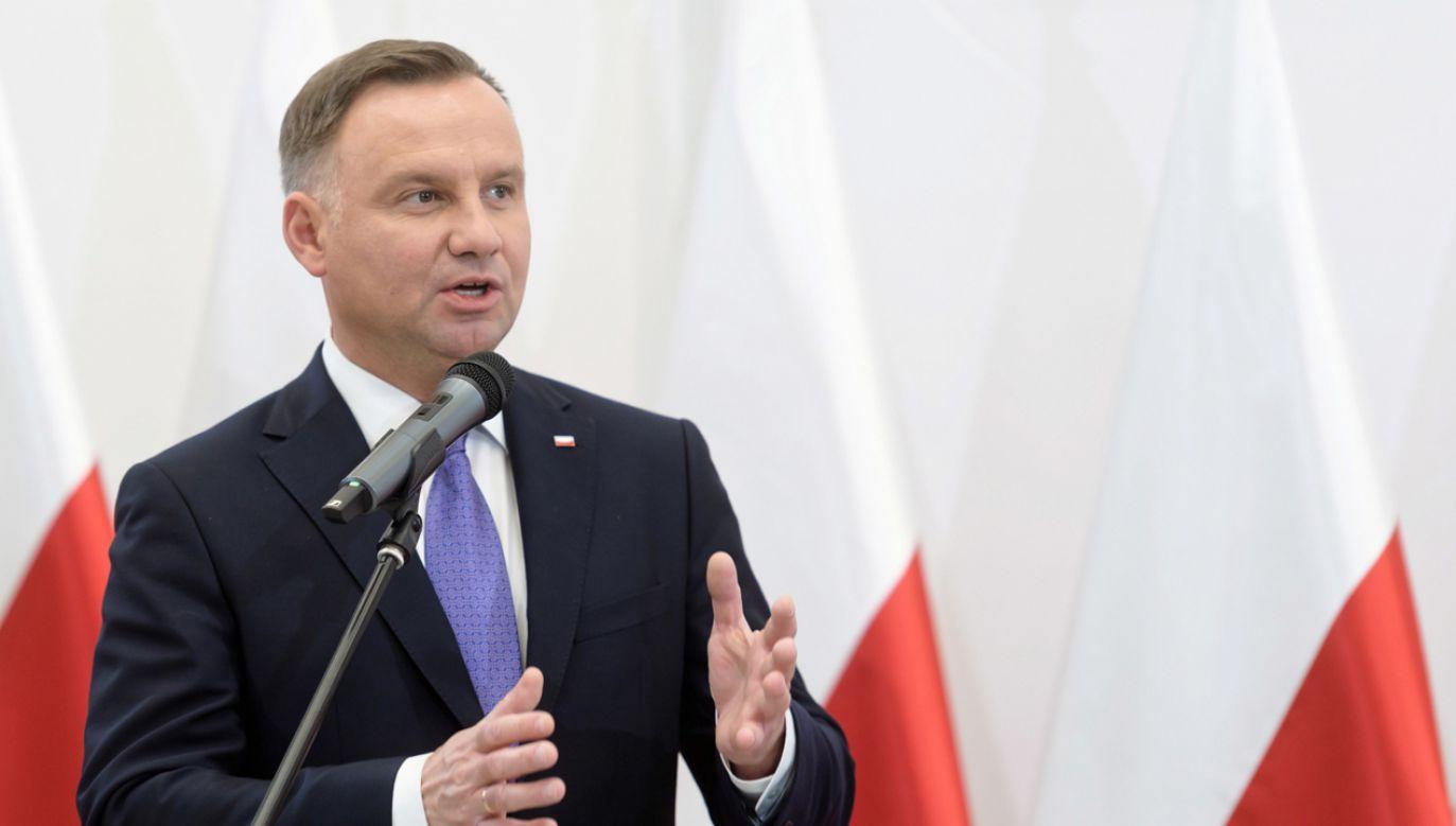 Prezydent Andrzej Duda (fot. PAP/Jakub Kaczmarczyk)