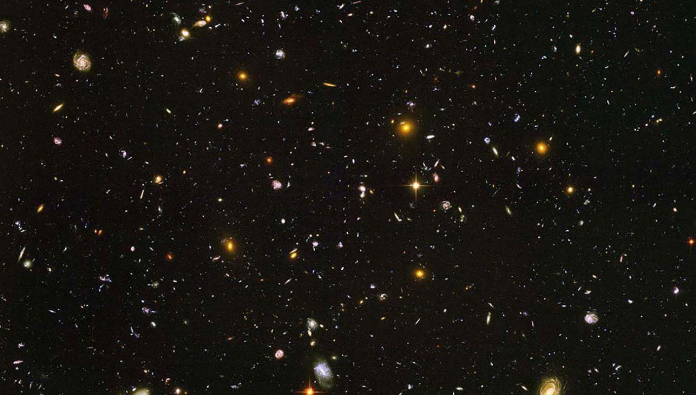 Galaktyki widoczne na zdjęciu są w różnych stadiach ewolucji i sięgają nawet czasów 500 mln lat po Wielkich Wybuchu (fot. NASA)