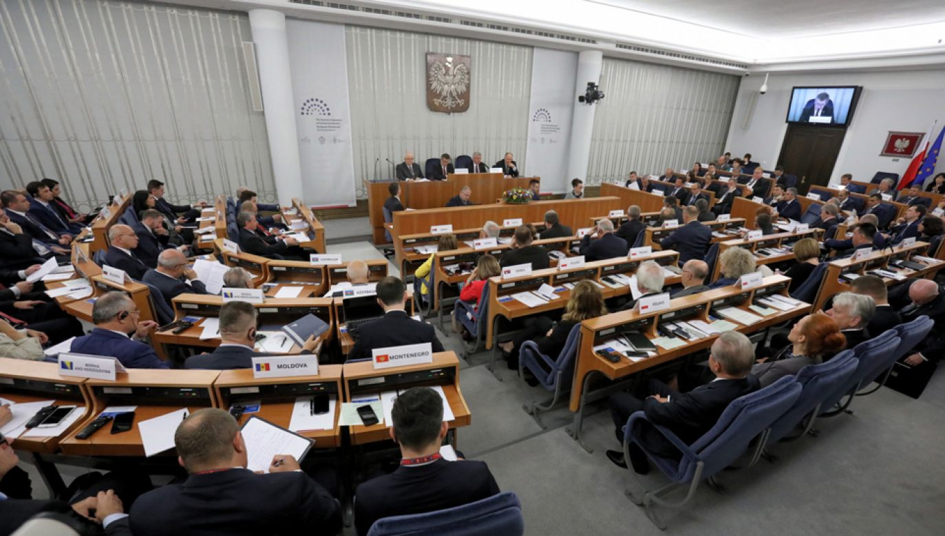 Obrady III Szczytu Przewodniczących Parlamentów Europy Środkowej i Wschodniej #EUROWAW2018 (fot. PAP/Tomasz Gzell)