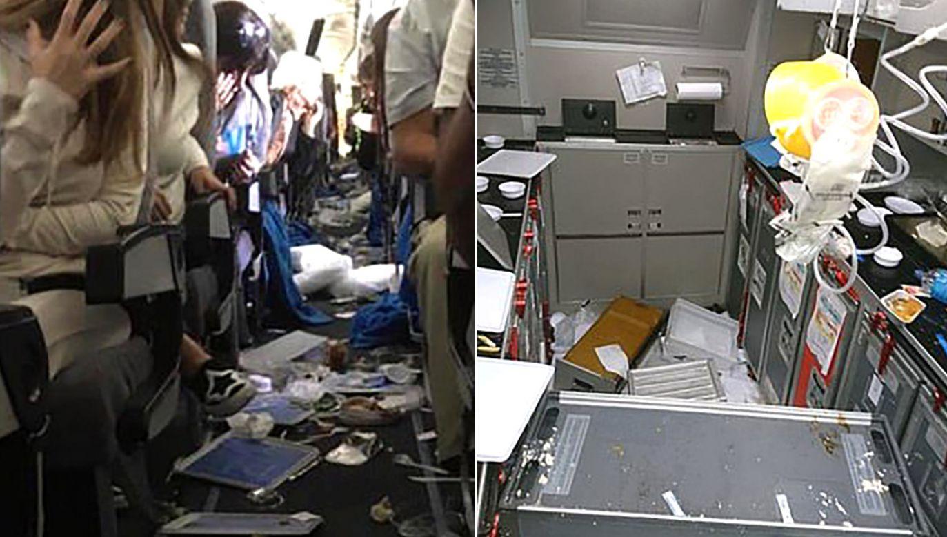 Zdjęcia i filmy nie pozostawiają wątpliwości, pasażerowie przeżyli chwile grozy (fot. tt/@elnuevoherald/tt/@NoMasCoach)