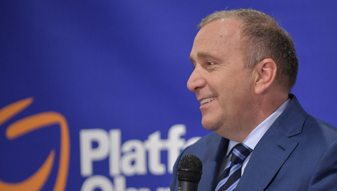 Przewodniczący PO Grzegorz Schetyna (fot. PAP/Przemysław Piątkowski)