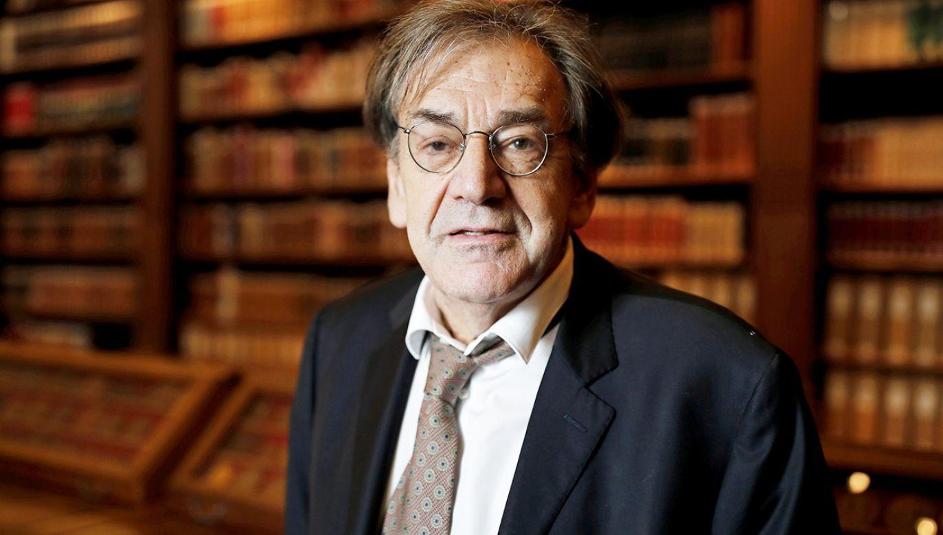 Alain Finkielkraut jest potomkiem polskich Żydów (fot. REUTERS/Benoit Tessier)