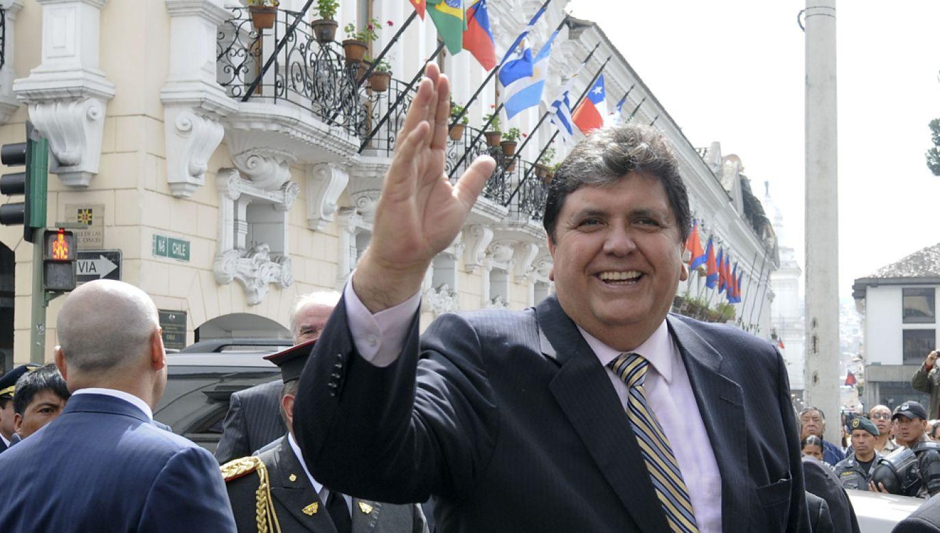 Były prezydent Peru Alan García Pérez podejrzany jest o przyjęcie łapówek od brazylijskiego przedsiębiorstwa budowlanego, które odpowiadało za program budowy metra w stolicy kraju (fot. Patricio Realpe/LatinContent/Getty Images)
