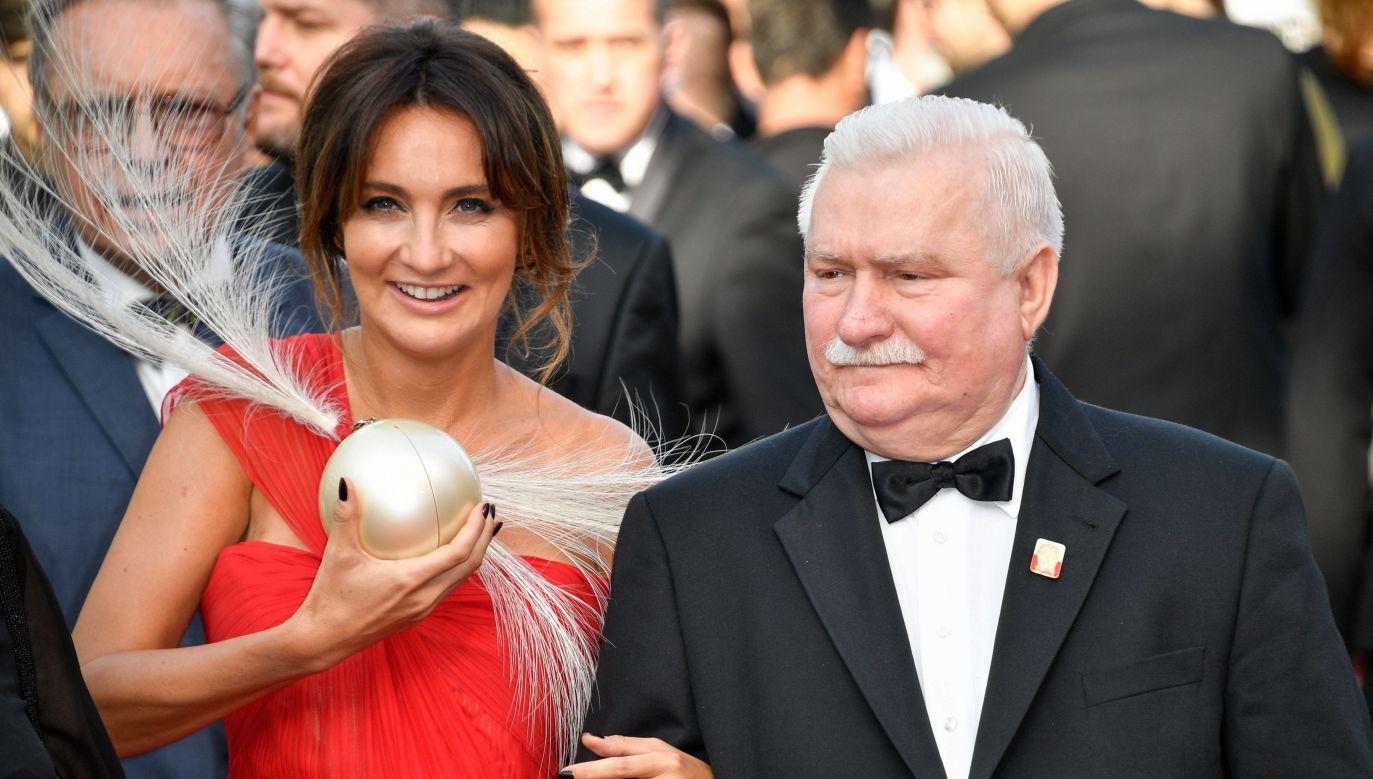 Dominika Kulczyk i Lech Wałęsa na 70. Festiwalu Filmowym w Cannes, 21 maja 2017 r. Fot. PAP/Abaca