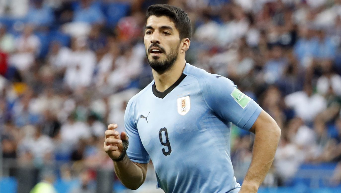 Luis Suarez, po festiwalu nieskuteczności w starciu z Egiptem, strzelił swojego pierwszego gola na mundialu (fot. PAP/EPA)