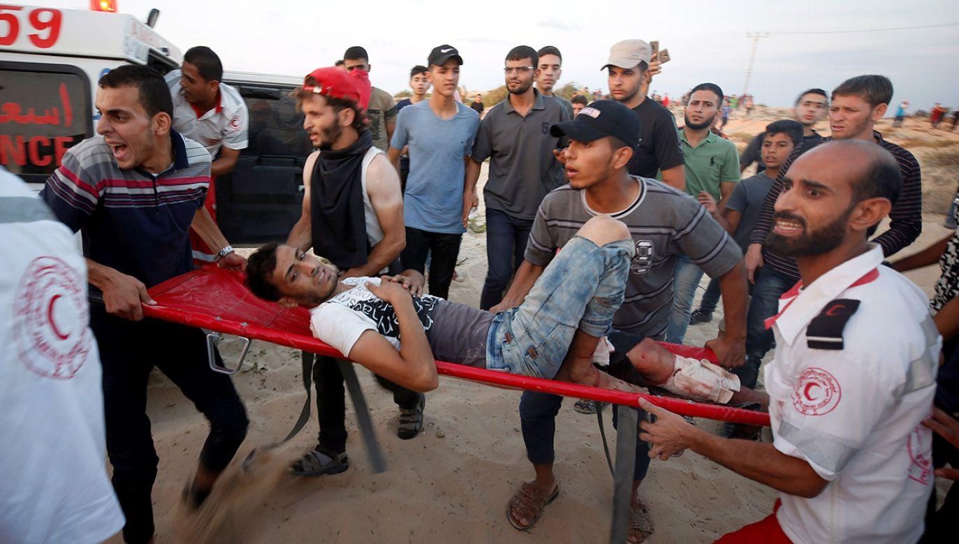 Od izraelskich kul miało zginąć w ostatnich dniach sześciu Palestyńczyków (fot. REUTERS/Mohammed Salem)