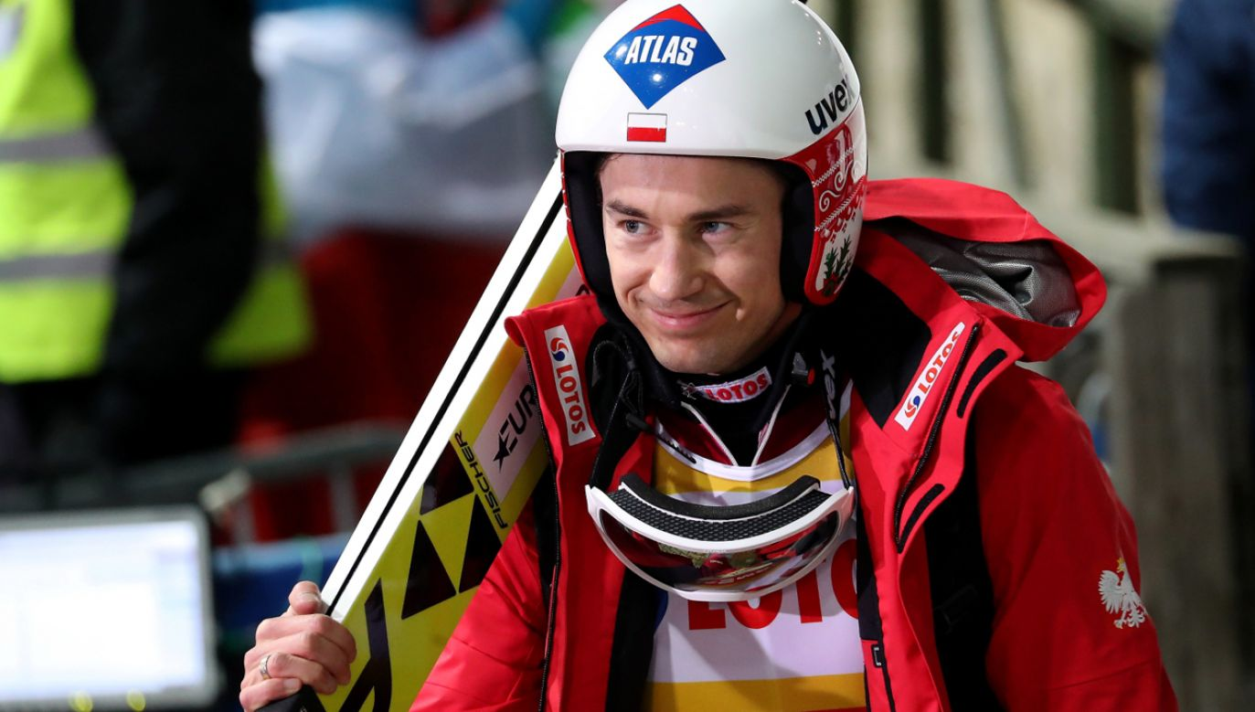 Kamil Stoch W treningach był 9. i 21., a w kwalifikacjach 48. (fot. PAP/Grzegorz Momot)
