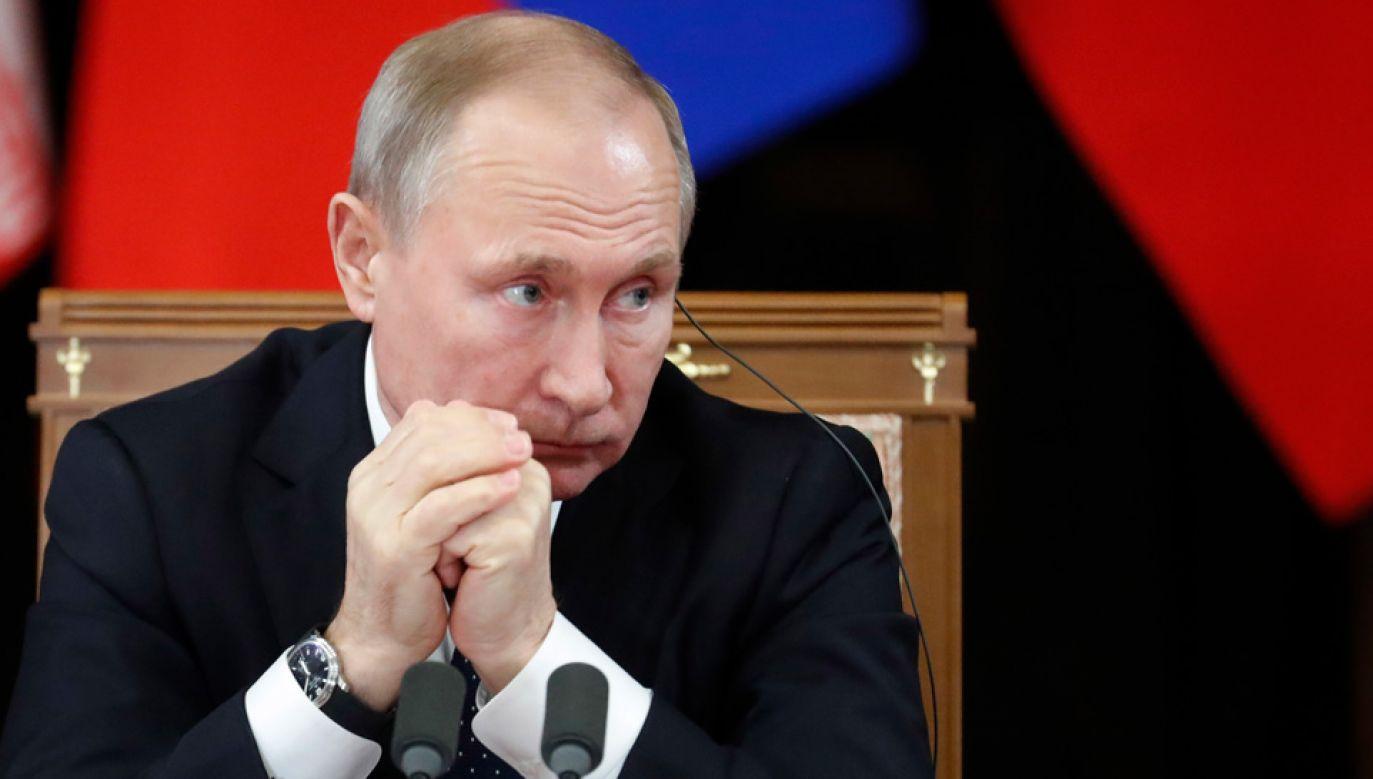 Władimir Putin wstrzymał udział Rosji w INF (fot. PAP/EPA/SERGEI CHIRIKOV / POOL)