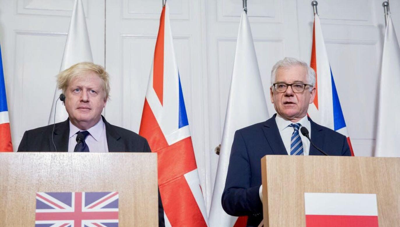 British foreign minister Boris Johnson and his Polish counterpart Jacek Czaputowicz. Photo: twitter.com/@BorisJohnson