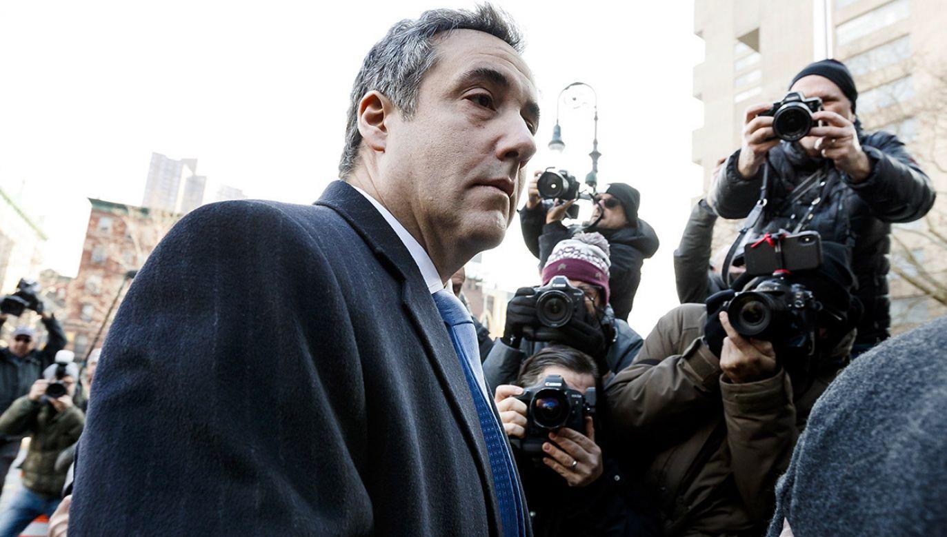 Michael Cohen (fot. PAP/EPA/JUSTIN LANE)