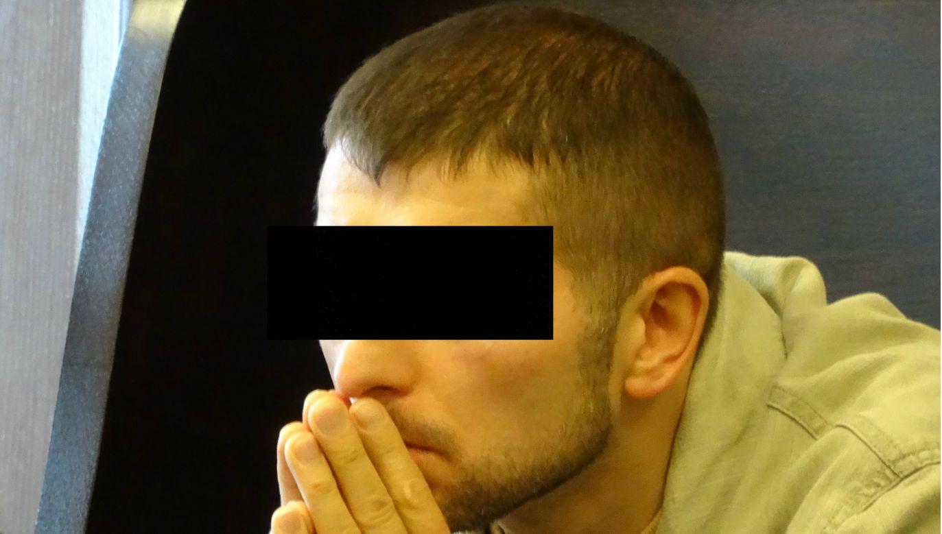 """Wojciech S. ps. """"Wojtas"""" w czasie jednego z procesów (fot. archiwum autora)"""