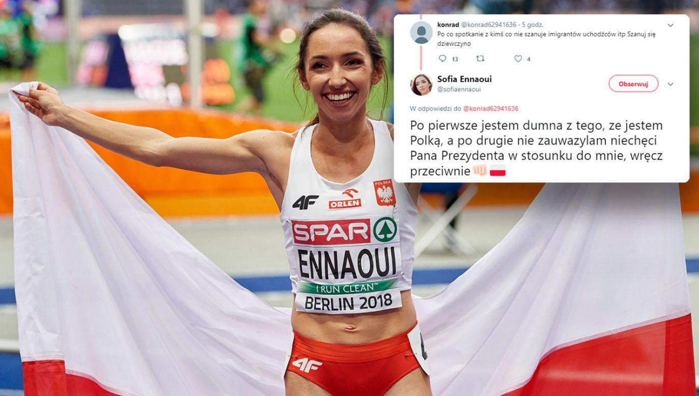 Sofia Ennaoui zajęła 2. miejsce w finałowym biegu na 1500 metrów na lekkoatletycznych mistrzostwach Europy w Berlinie (fot. PAP/Adam Warżawa/TT/Sofia Ennaoui)