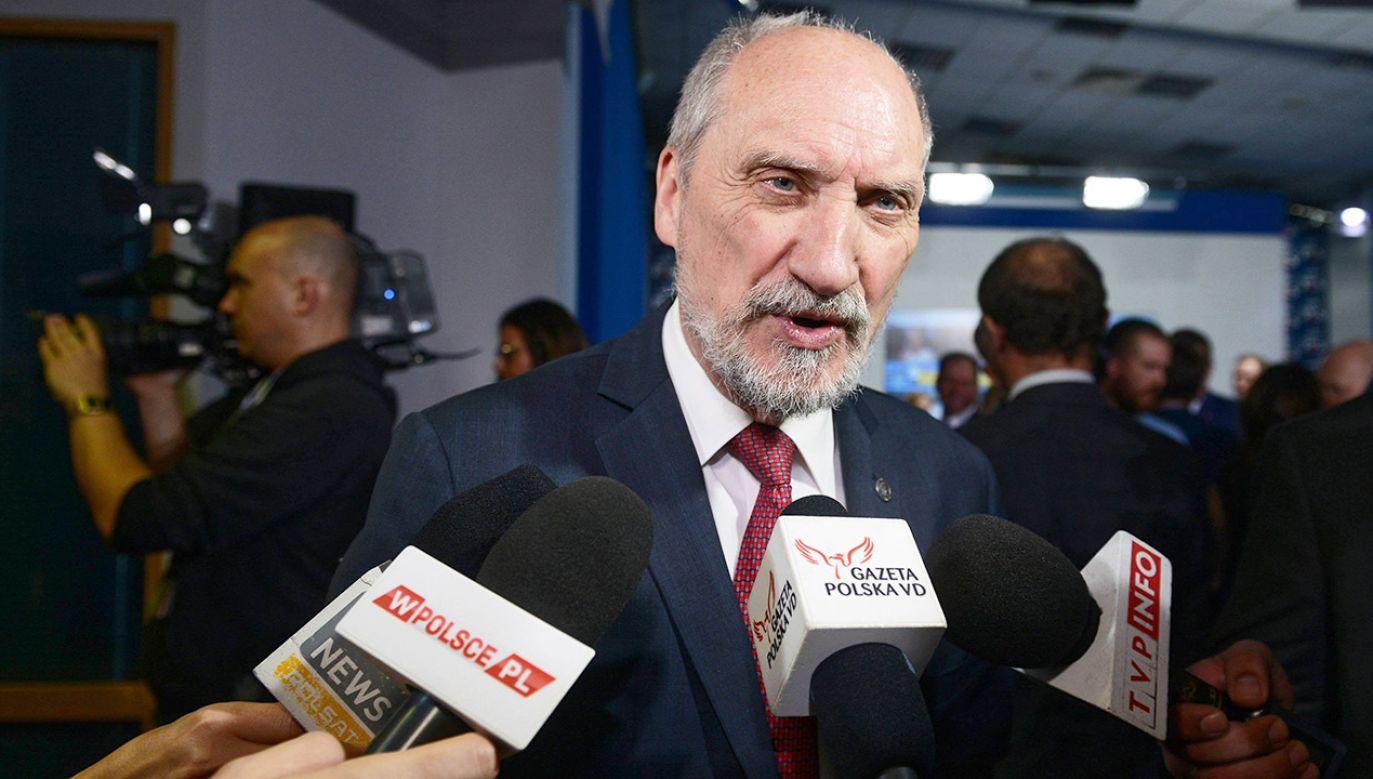 Były minister Obrony Narodowej Antoni Macierewicz (fot. arch.PAP/Jakub Kamiński)