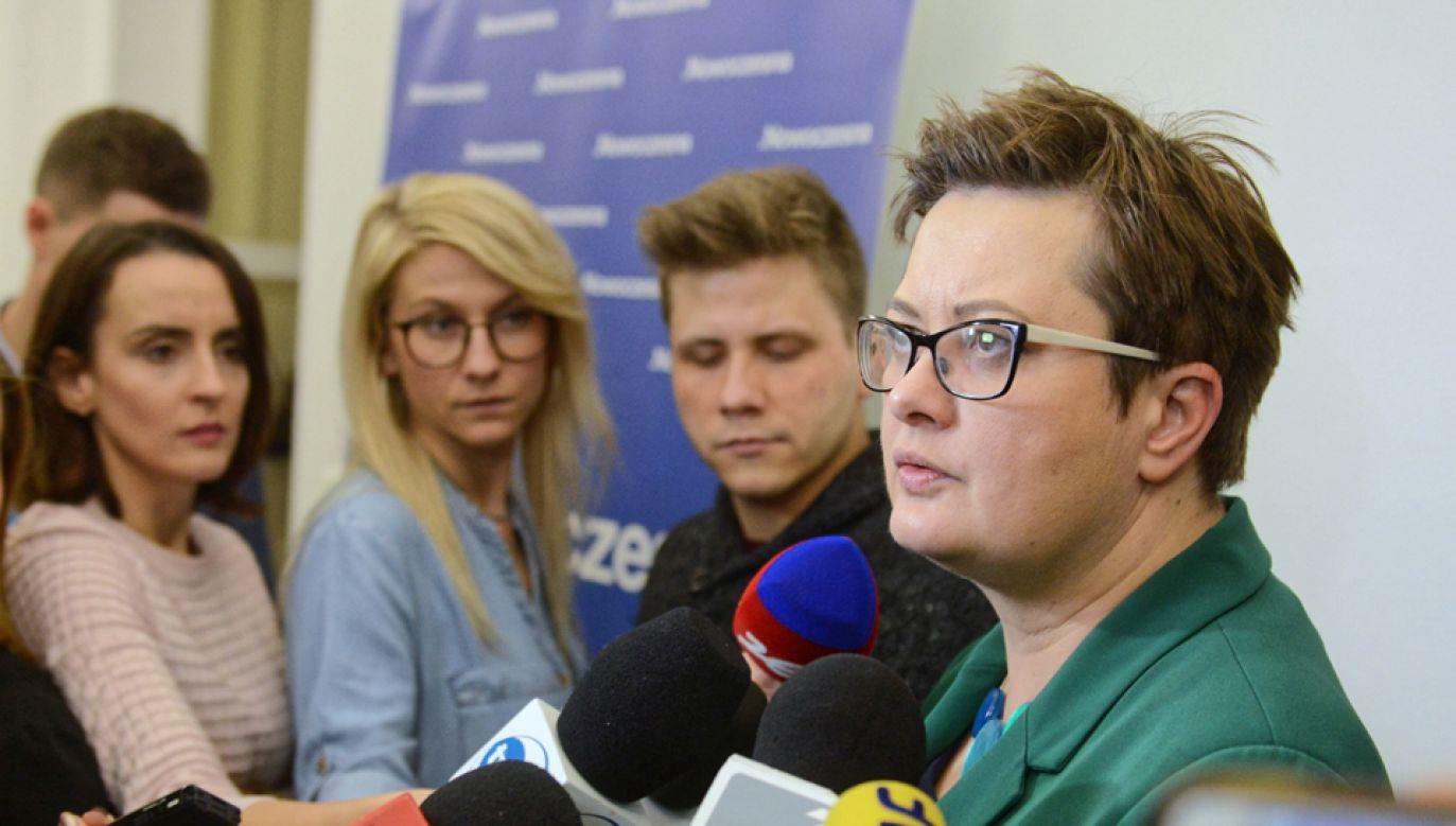 Przewodnicząca Nowoczesnej Katarzyna Lubnauer (fot. PAP/Jakub Kamiński)
