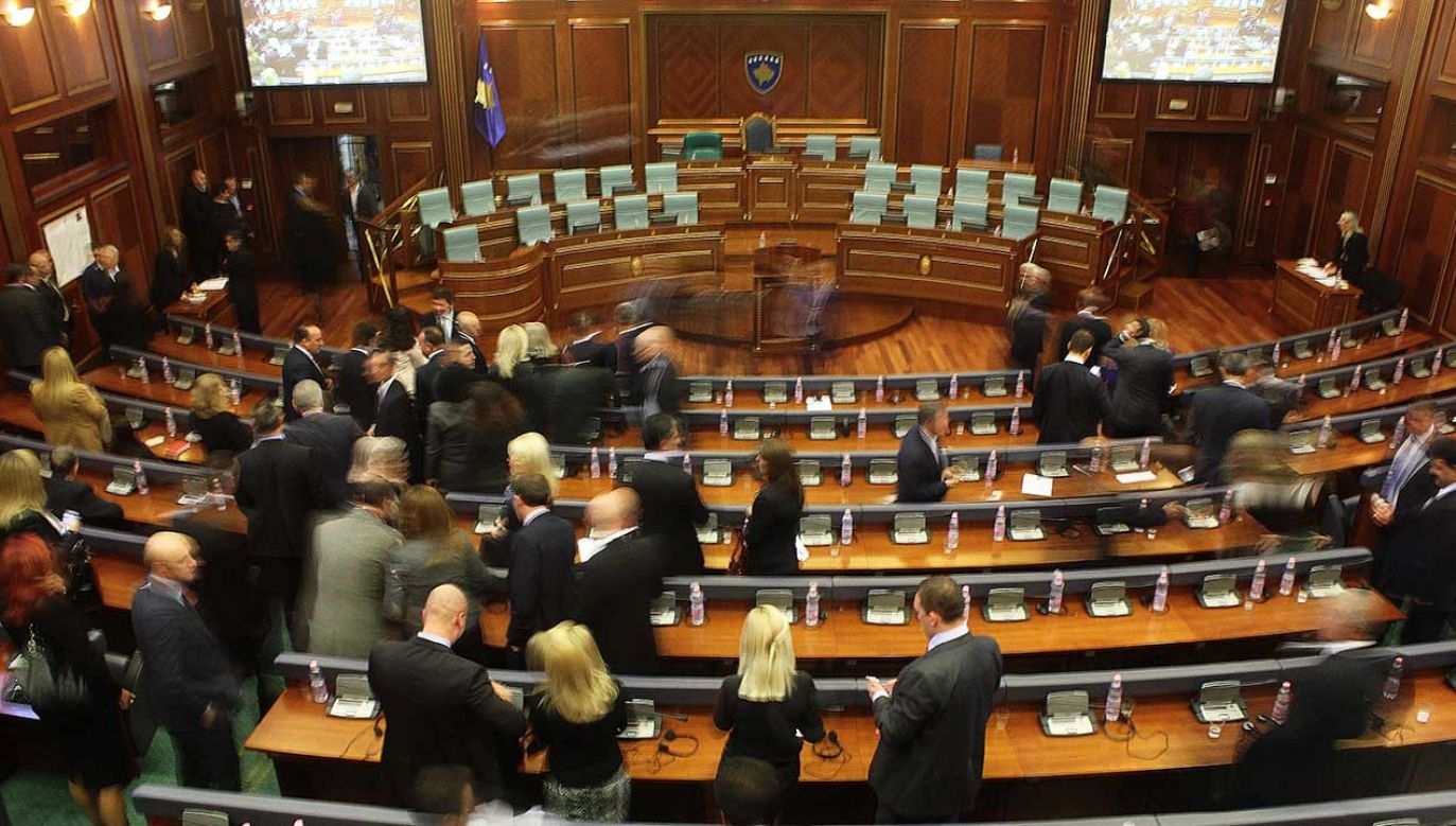Zgromadzenie Kosowa (fot. NurPhoto/NurPhoto via Getty Images)