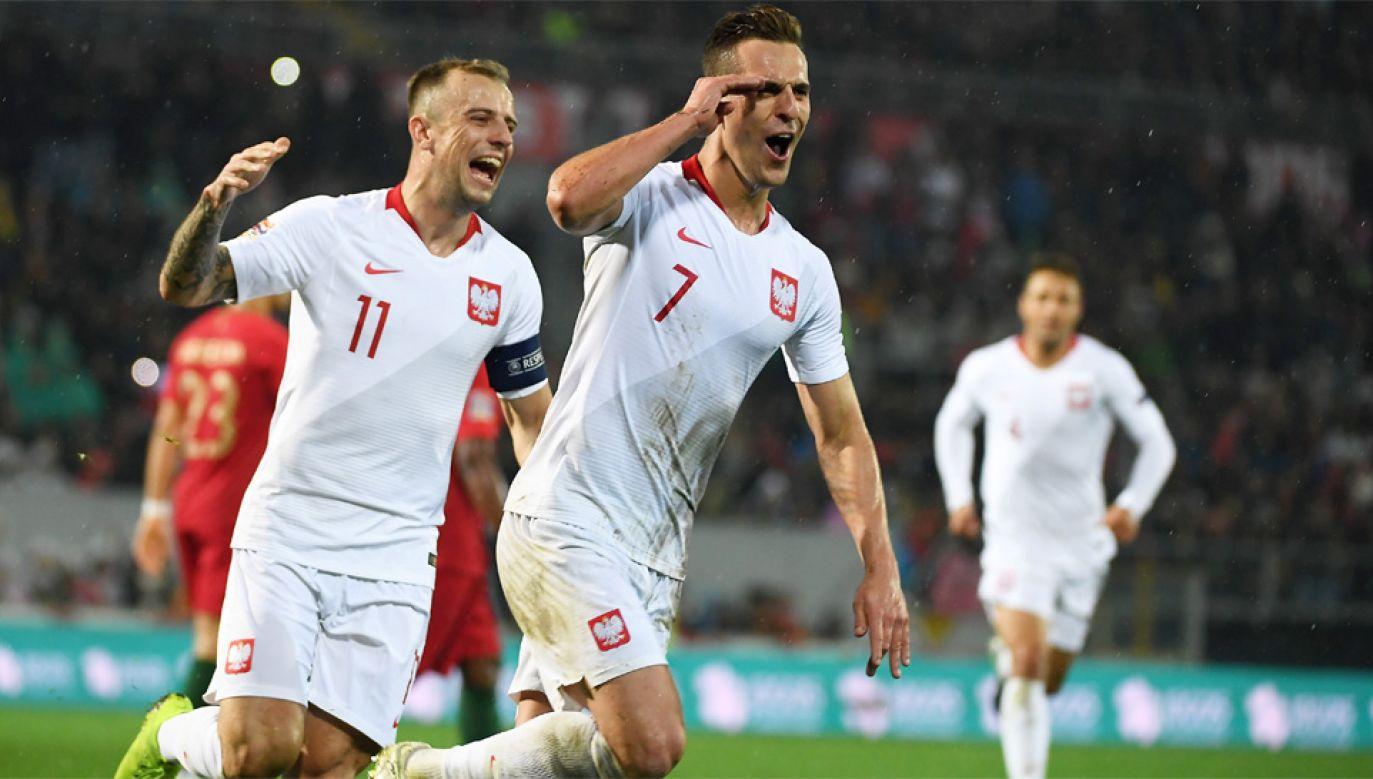 Arkadiusz Milik i Kamil Grosicki byli bohaterami meczu z Portugalią (fot. PAP/Bartłomiej Zborowski)