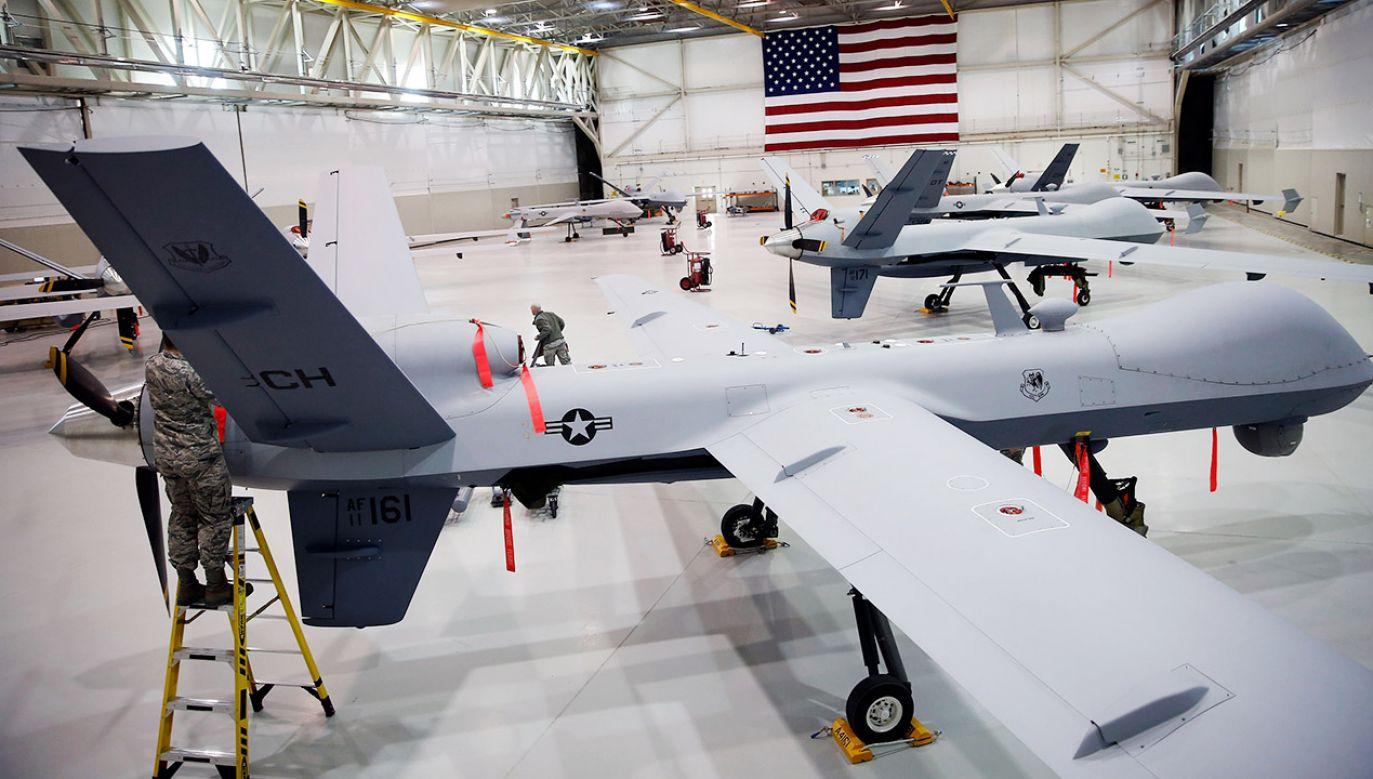 Kilku rosyjskich parlamentarzystów oświadczyło, że Moskwa odpowie na plany rozmieszczenia eskadry amerykańskich dronów w Polsce (fot. Isaac Brekken/Getty Images)