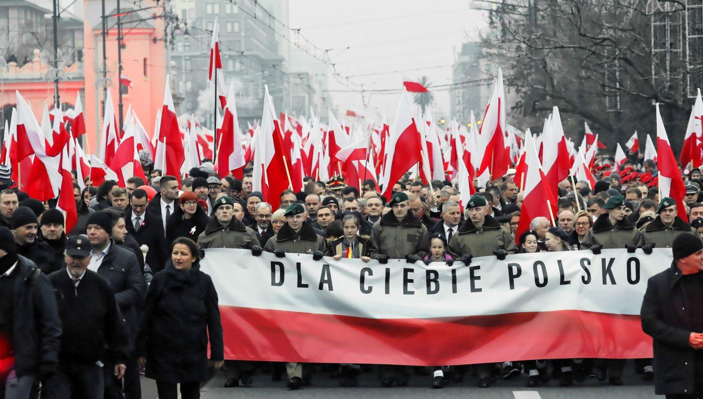 Donald Trump złożył w niedziele życzenia z okazji setnej rocznicy odzyskania przez Polskę niepodległości (fot. PAP/Tomasz Gzell)