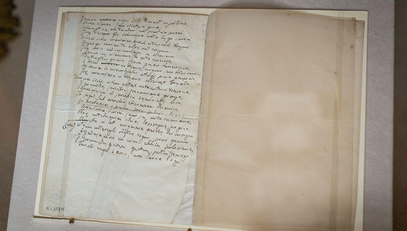 Rękopis ten był jednym z najcenniejszych dzieł w słynnej kolekcji rodu Tarnowskich (fot. arch.PAP/Maciej Kulczyński)