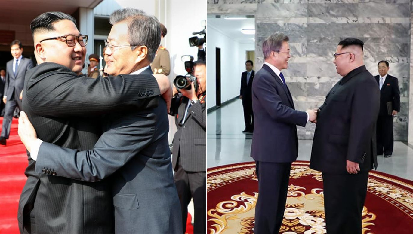 Kim Dzong Un i Mun Dze In (fot. Korea Clickers)