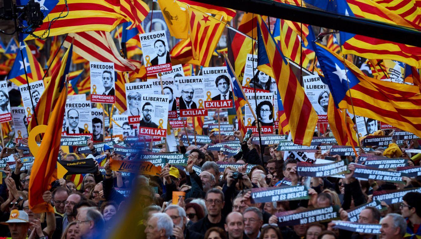 Dwunastu katalońskich polityków sądzonych jest przed hiszpańskim Sądem Najwyższym w Madrycie(fot. PAP/EPA/ALEJANDRO GARCIA)