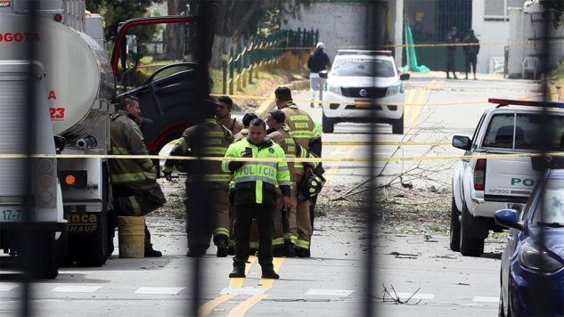 Czwartkowy zamach w Kolumbii był najkrwawszym w tym kraju od 2003 r. (fot. PAP/EPA/MAURICIA DUENAS CASTANEDA)
