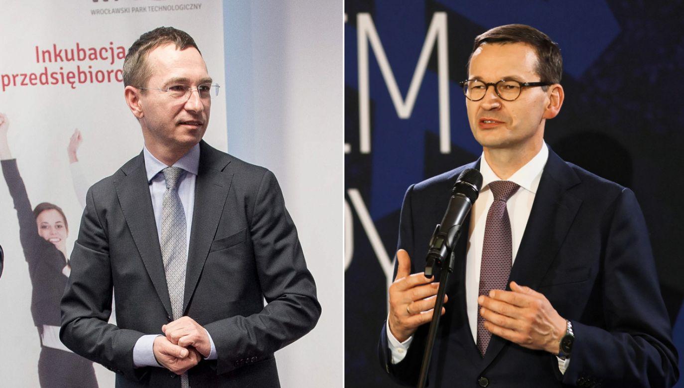 Maciej Bluj, Mateusz Morawiecki (fot. PAP/Lech Muszyński/Maciej Kulczyński)