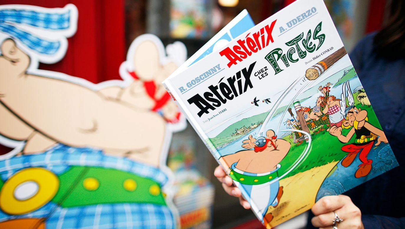Najnowszy komiks o przygodach Asterixa i Obeliksa ukazał się 19 października 2017 r. (fot. REUTERS/Benoit Tessier)