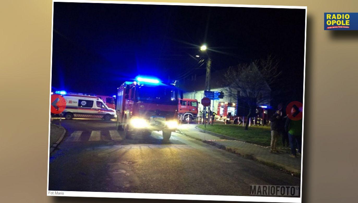 W akcji gaśniczej brało udział pięć jednostek straży pożarnej (fot. Radio Opole)