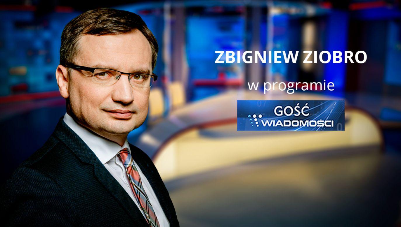 Minister Sprawiedliwości Zbigniew Ziobro (fot. TVP info)