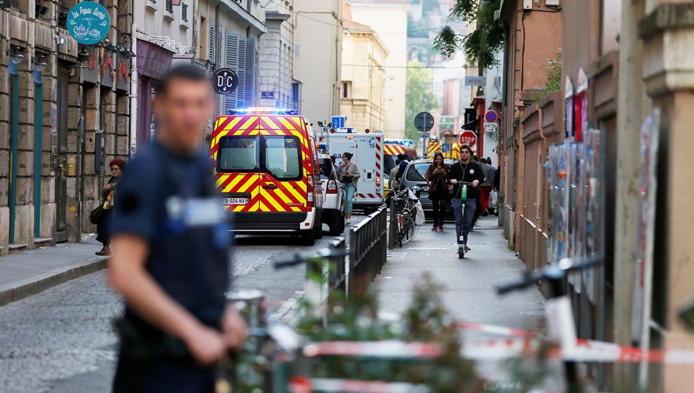 W Lyonie eksplodowała bomba  (fot. REUTERS/Emmanuel Foudrot)