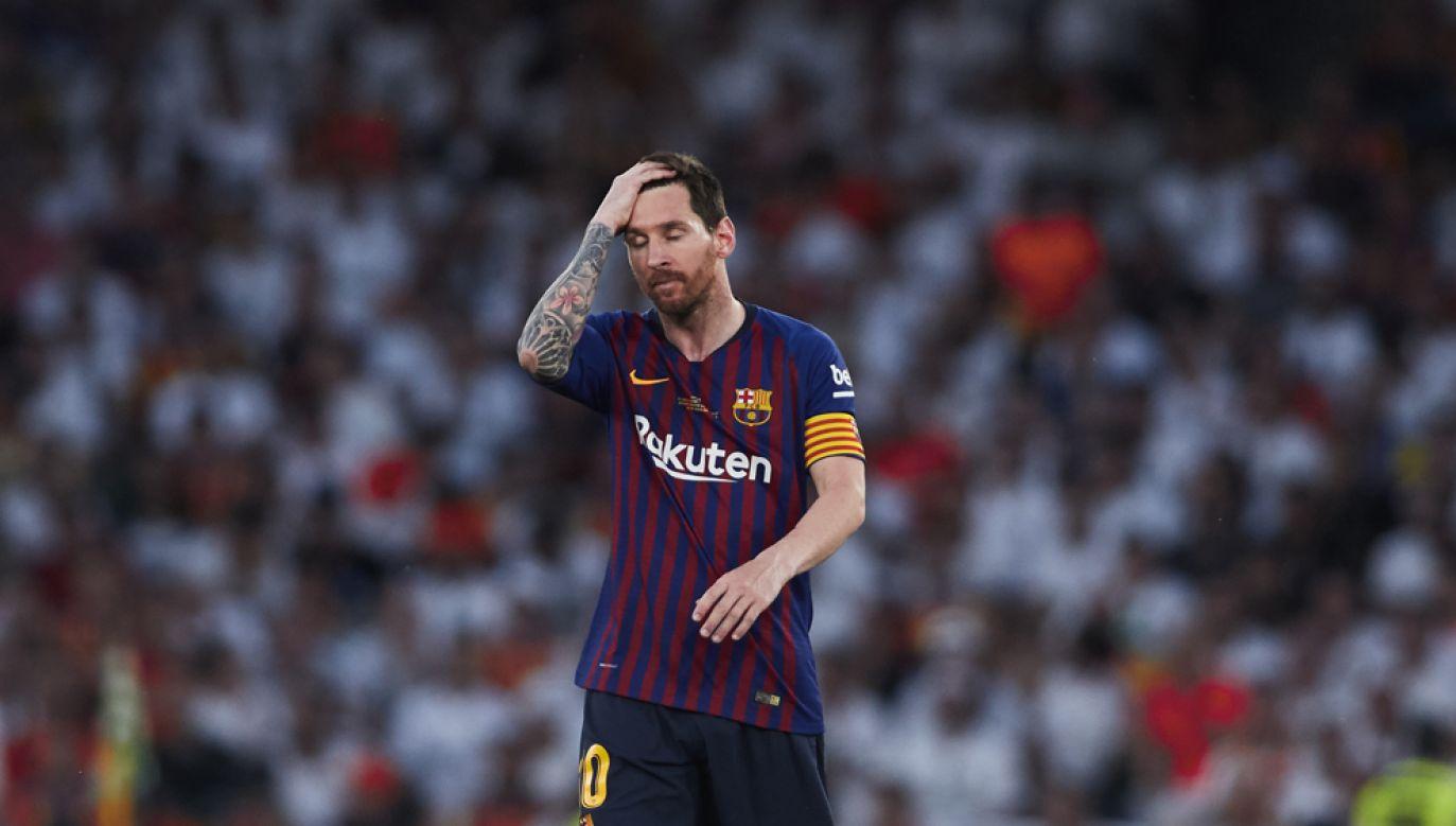 Lionel Messi strzelił w finale Pucharu Hiszpanii gola, ale jego Barcelona uległa Valencii (fot. Quality Sport Images/Getty Images)