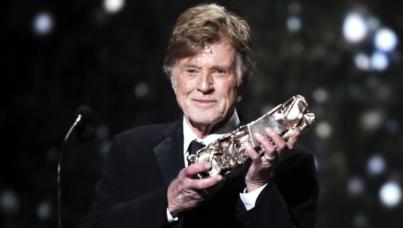 Robert Redford  otrzymał statuetkę Cezara za całokształt dorobku artystycznego (fot. PAP/EPA/CHRISTOPHE PETIT TESSON)