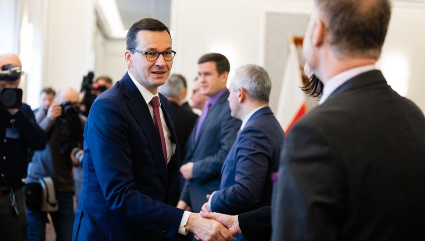 Wnioskiem PO o wotum nieufności wobec rządu Sejm ma zająć się na rozpoczynającym się w środę posiedzeniu  (fot. KPRM/Krystian Maj)