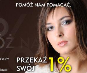 Pomóż nam pomagać. Przekaż swój 1% dla Agnieszki.